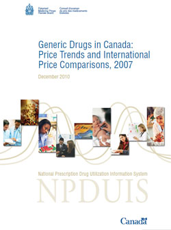 Generic Drugs in Canada: Price Trends and International Price Comparisons, 2007